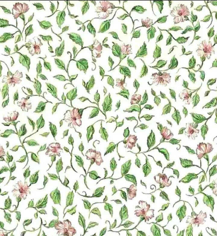 Tiny pink floral wallpaper