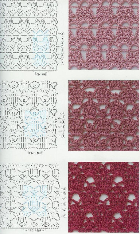 519 mejores imágenes de Tejidos en Pinterest | Puntos crochet ...