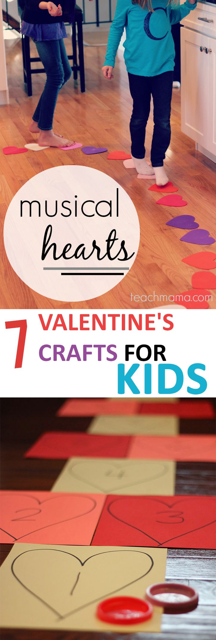 Here are 7 fun craft ideas to do with your kids for Valentine's Day.