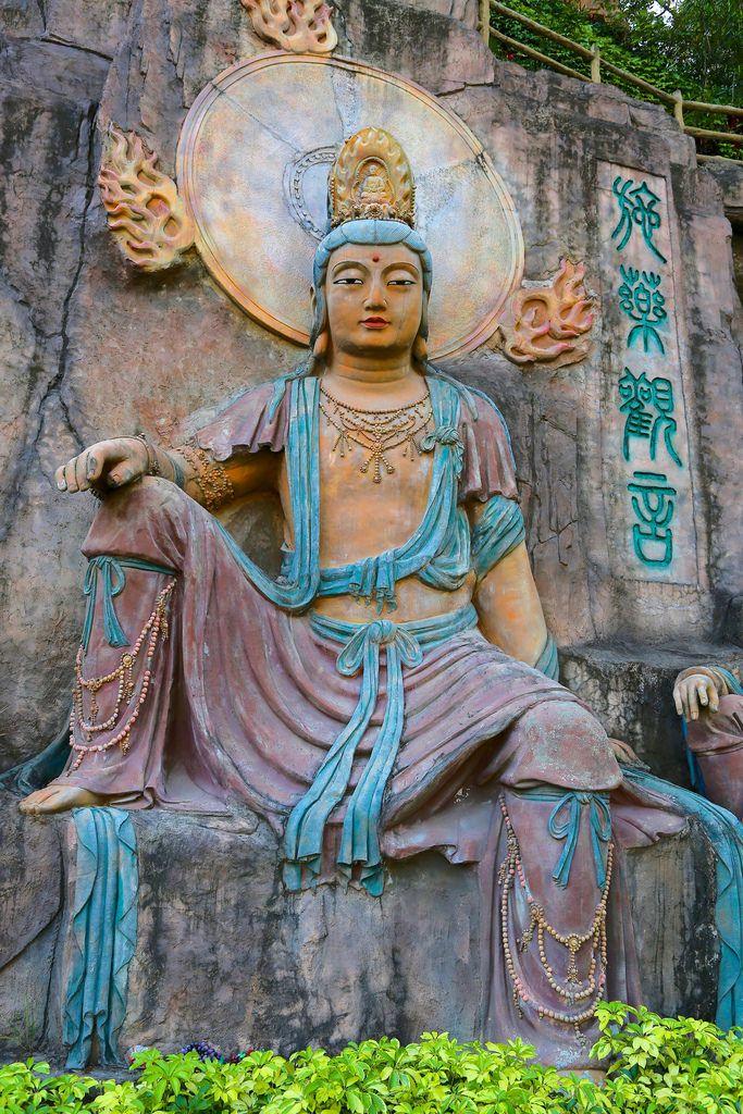 Estatua de Buda . Bután.