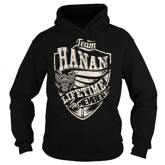 I Love Last Name, Surname Tshirts - Team HANAN Lifetime Member Eagle T shirts