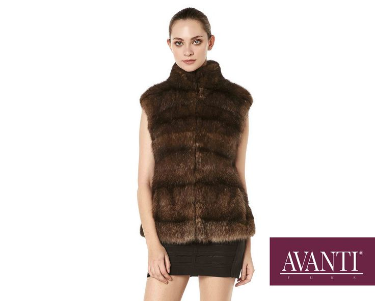 AVANTI FUS - MODEL: NATALI SABLE VEST #avantifurs #fur #fashion #fox #luxury #musthave #мех #шуба #стиль #норка #зима #красота #мода #topfurexperts