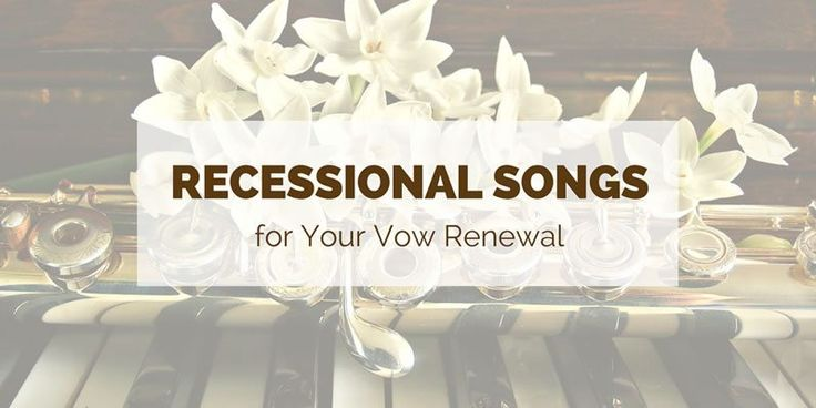 Recessional music is all about joy and celebration. You've renewed your vows in front of your family and friends and now it's time to get the party started. Browse our ideas to find the perfect song for the two of you to