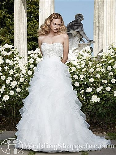 Casablanca Bridal Gown 2068 - Visit Wedding Shoppe Inc. for designer bridal gowns, bridesmaid dresses, and much more at http://www.weddingshoppeinc.com