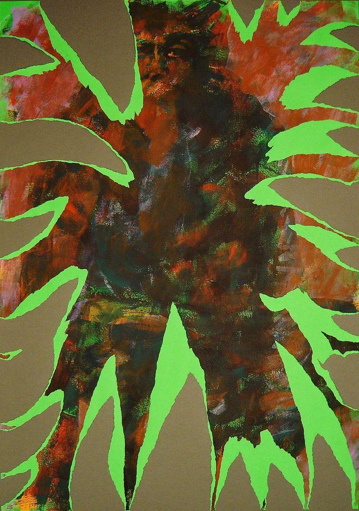 """19TH #NERVOUS #BREAKDOWN""#Painting by #YuryErmolenko 2012 #acrylic 100x70cm #RapanStudio #ContemporaryArt #ModernArt"