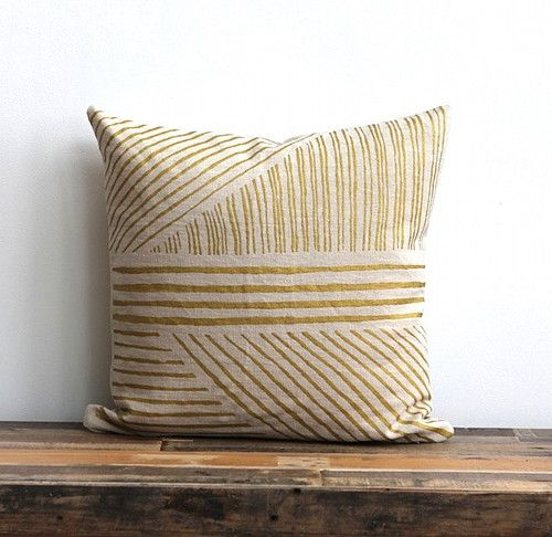 We've never met a gold pattern we didn't like and these pillow covers from Chanee at {me}longings studio are no exception!