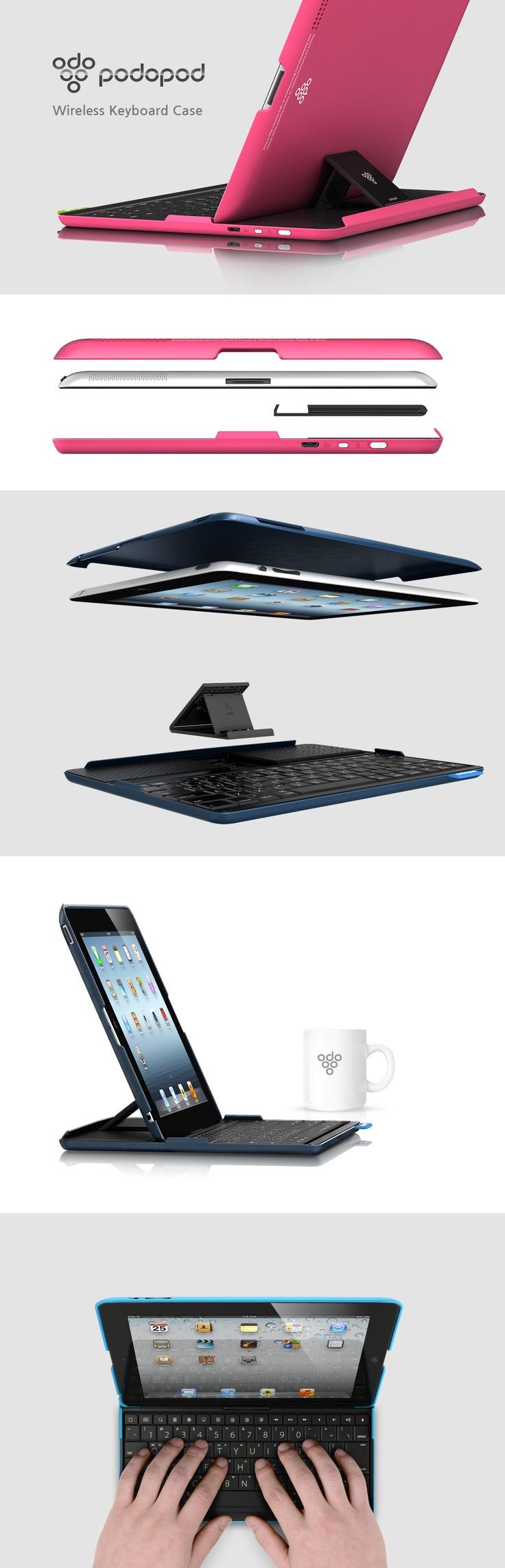 PODOPOD  Wireless Keyboard Case