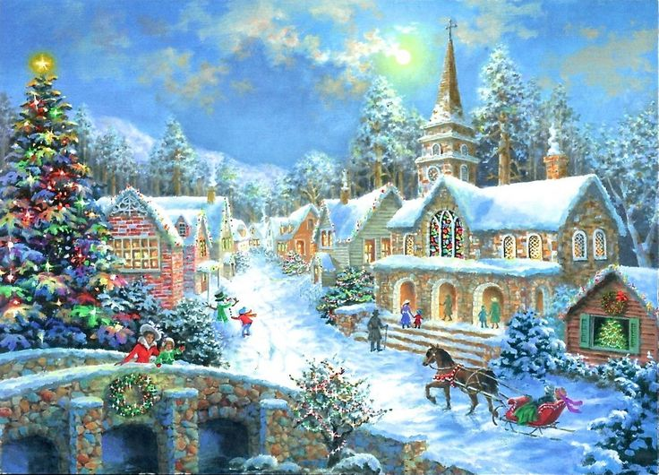 Nicky Boehme (b.1958) — Christmas Post Сards  (1200x865):