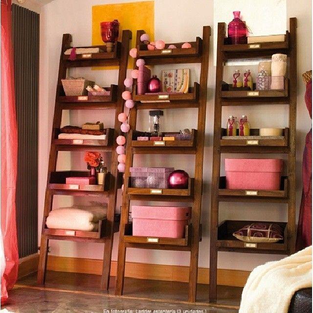 Completa el dormitorio Stick con �stas bonitas estanter�as Ladder