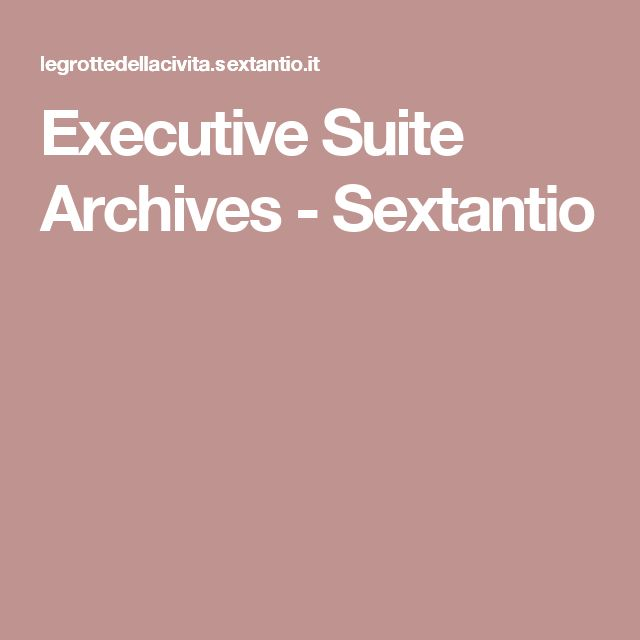 Executive Suite Archives - Sextantio
