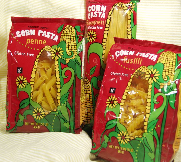 DISCINTINUED!! Write to Trader Joe's and ask them to bring it back!!  Trader Joe's corn pasta! Oh yeah, jackpot. At $1.29 for a 16oz pkg of spaghetti, penne, or fusilli, this is a steal compared to other GF pastas. And, it's GOOD! I try to have this on hand all the time, and when I make it over to TJ's, I buy several packages. Go buy this!