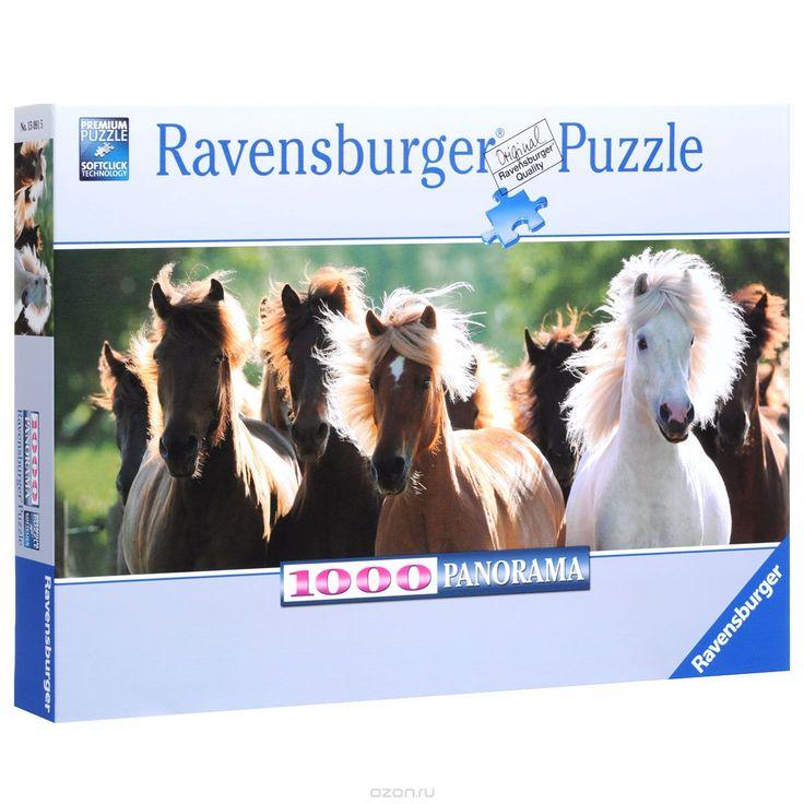 Ravensburger Дикие лошади. Пазл панорамный, 1000 элементов