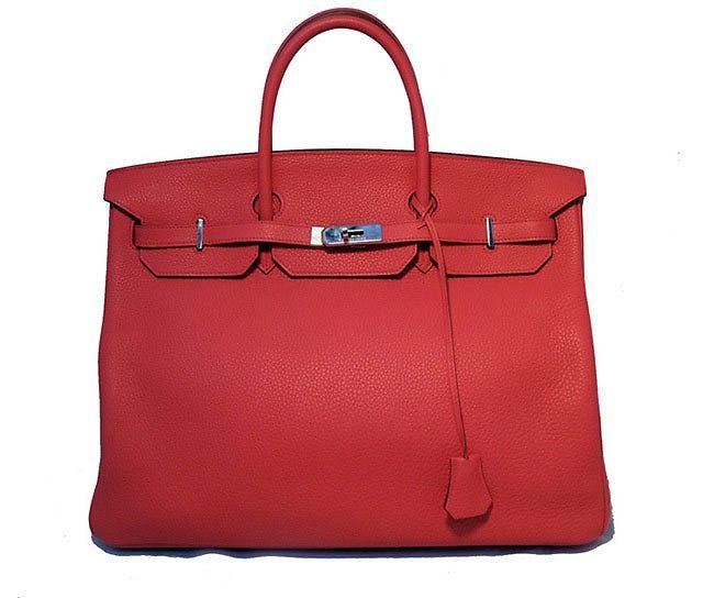 RARE Authentic Hermes Bougainvillea Clemence 40cm Birkin Bag- Rare