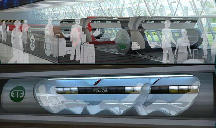 Le «Hyper boucle» serait trois à quatre fois plus rapide qu'un TGV, et deux fois plus rapide qu'un avion. Il serait également immunisé contre les intempéries, ne pourra pas avoir d'accident, et il sera moins chers que n'importe quel autre moyen de transport. L'Hyperloop pourrait être alimenté au moyen de panneaux solaires.