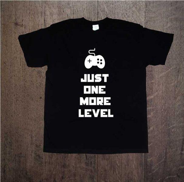 One+More+Level,+Męska+koszulka+z+nadrukiem,+w+DDshirt+na+DaWanda.com