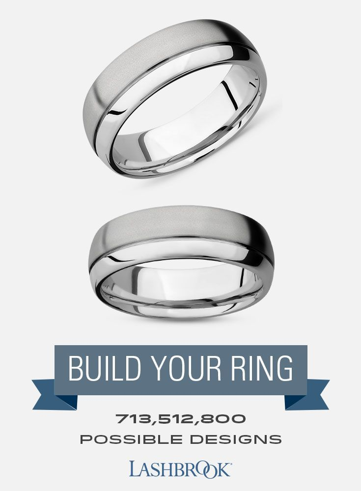 Cobalt Chrome Mens Wedding Ring With 1 5mm Off Center Groove And