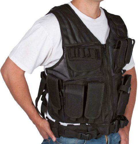 Modern Warrior Black Tactical Vest