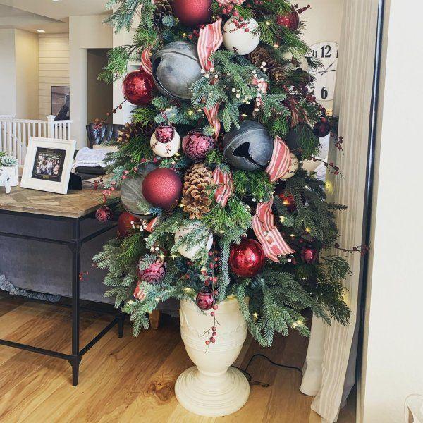 Toulon Christmas Tree Urn Ballard Designs In 2020 Christmas Tree In Urn Pretty Christmas Decorations Christmas Tree Inspiration