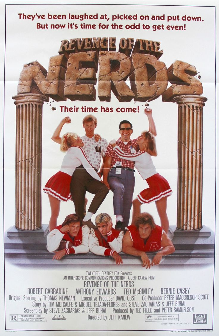 """Film: Revenge of the Nerds (1984) Year poster printed: 1984 Country: USA Exact Size: 27""""x 41"""" This is a vintage one-sheet movie poster from 1984 for Revenge of the Nerds starring Robert Carradine, Ant"""
