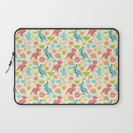 Tea Rex Laptop Sleeve by Erika Biro | Society6