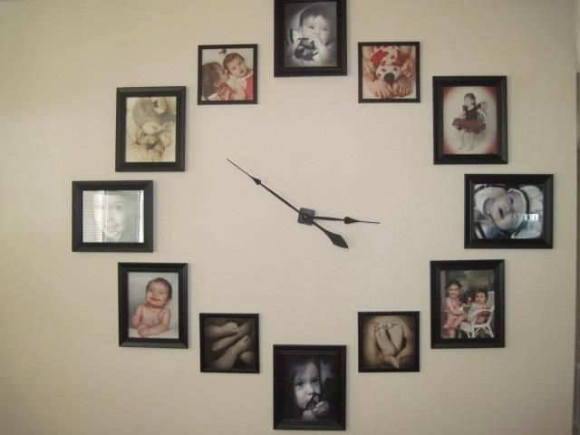 My Family Picture Frame Wall Clock. I really like how it turned out.