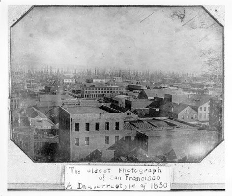 Oldest photograph of San Francisco, 1850.