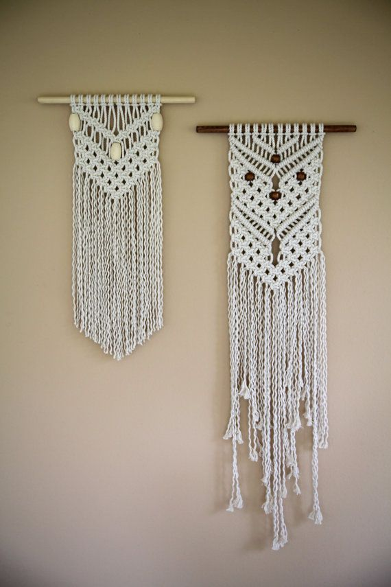 this small macrame wall hanging is hand knotted with 5mm on macrame wall hanging id=71873