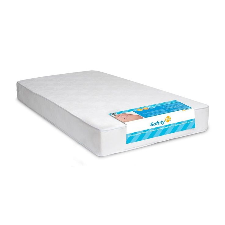 DHP Safety First Heavenly Dreams Crib Mattress Waterproof Cover Crib Toddler Bed #DHP