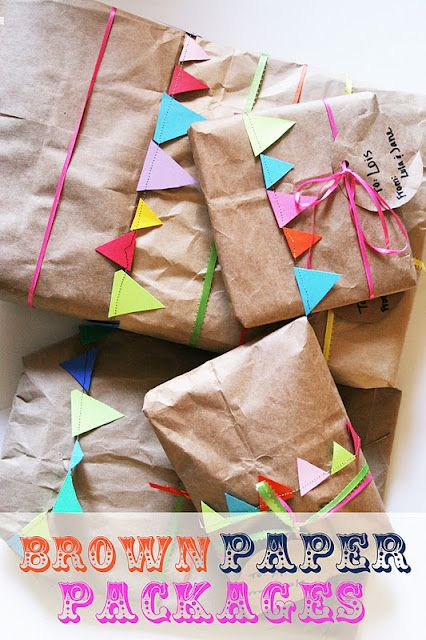 bunting & wrapping paper