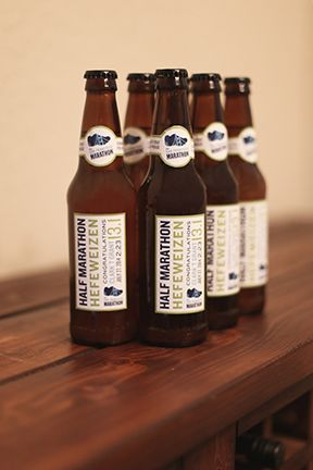 Make your won beer bottle labels. Great (and cheap) gift idea! #girlfriendoftheyear  Instructions and blank template on the blog.
