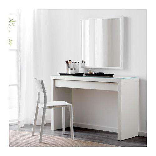 MALM Dressing table IKEA There's plenty of space for make-up and jewelry in the wide, felt-lined drawer.