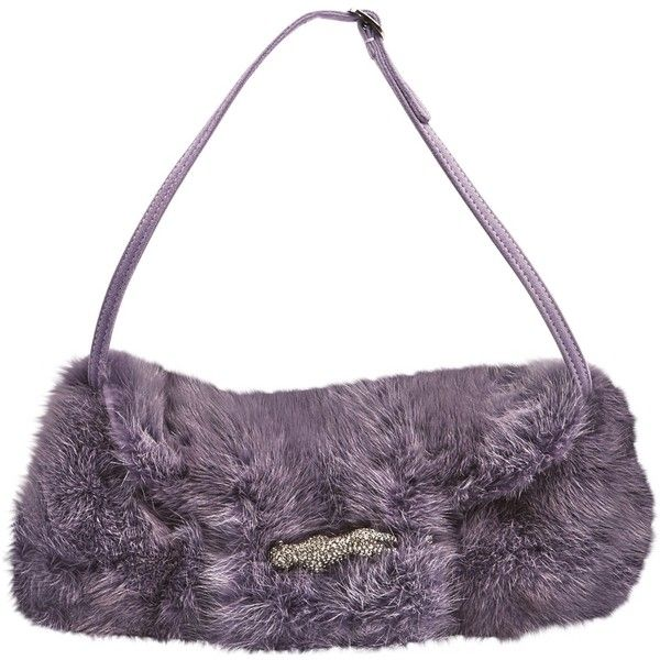 Pre-owned Valentino Mink Clutch Bag ($795) ❤ liked on Polyvore featuring bags, handbags, clutches, purple, women bags clutch bags, purple purse, preowned handbags, purple handbags, white clutches and white purse