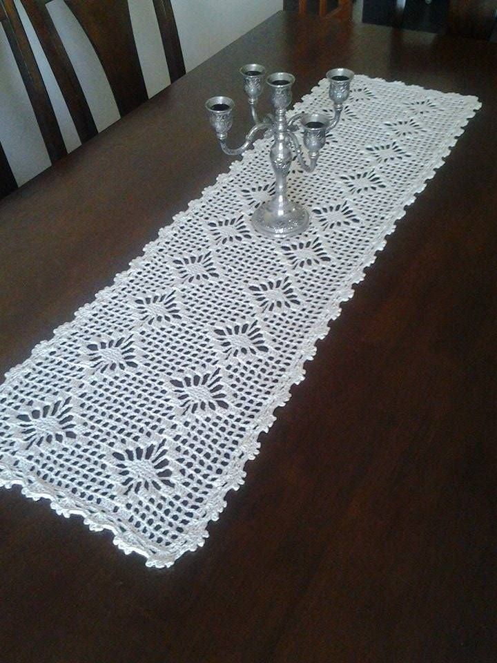 263 best images about mantel tejido on pinterest mesas for Camino de mesa a crochet