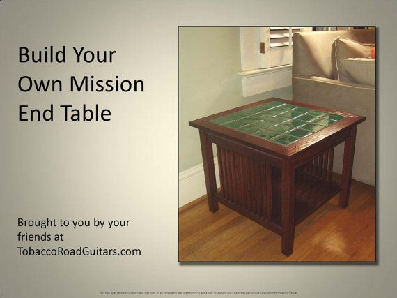 Mission Style End Table Plans and by TobaccoRoadGuitars on Etsy, $5.00