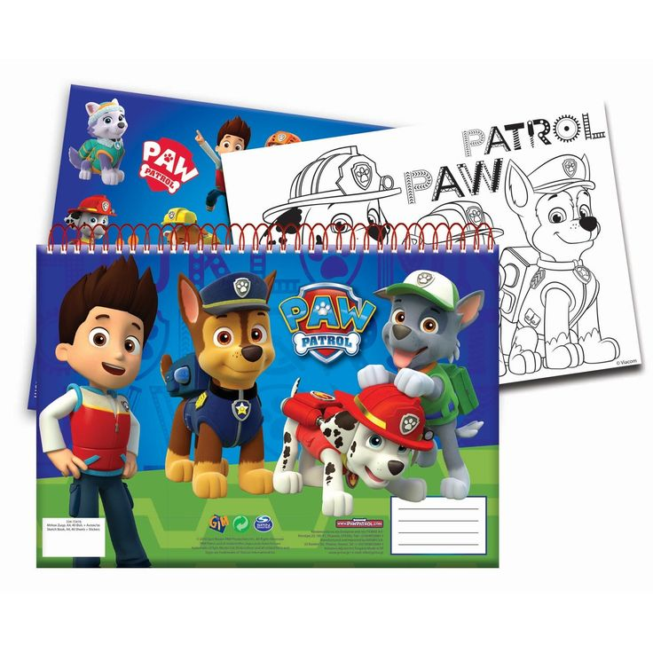 Paw Patrol schetsboek met stickers in A4 formaat met 30 vellen. Maak de mooiste schetsen, tekeningen en creaties. Afmeting:schetsboek 29,7 x 21 cm. - Paw Patrol Schetsboek A4 met Stickers