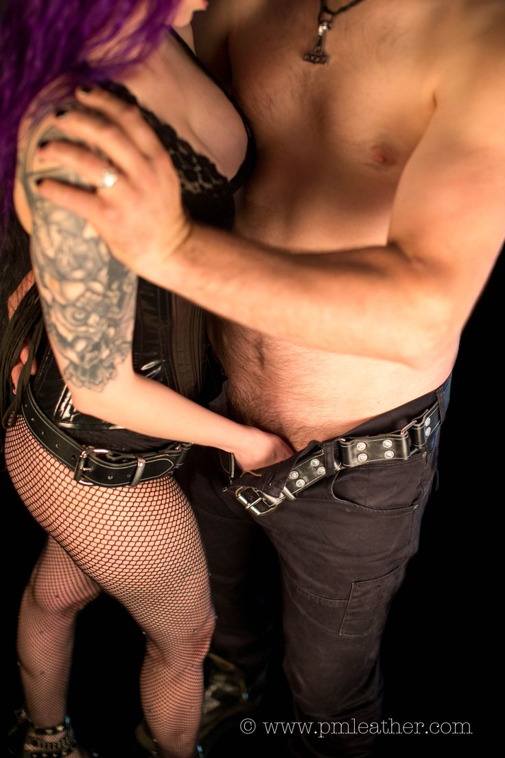 Dracovinia takes a tight grip on her beloved Jack. Both are wearing their PM Leather hobble belts. Each belt is made from the most rugged materials, and turns rapidly into a set of leather bondage cuffs.