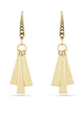 Laundry By Shelli Segal Women Gold-Tone Paddle Drop Earrings - Gold - One Size
