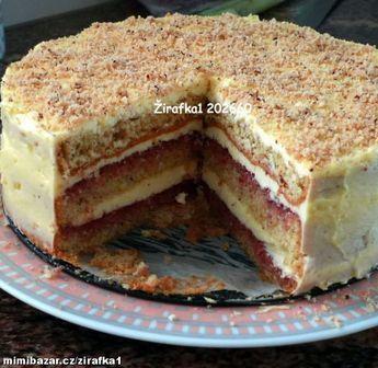 **Jednoduchý ořechodý dort s pudinkovým krémem**průměr formy 23cm**S podrobným fotopostupem**