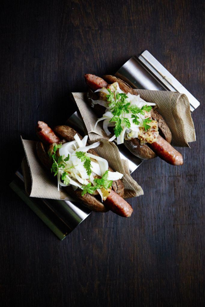 HOTDUCKS – Hotdogs med andepølse, æblesennep og fennikel.