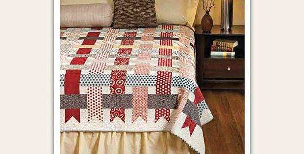 This Easy Quilt Offers Endless Color Possibilities! Weave your favorite colors together into a stunning yet simple quilt. The design seems complex but it's quite easy to stitch together. Twenty two fat quarters are used to created the woven strips. Choose a background color to contrast with them and to complement the design. We can …