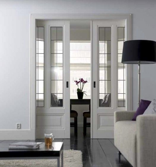 Pocket doors to replace my French doors.  I don't like pocket doors, but I like these!