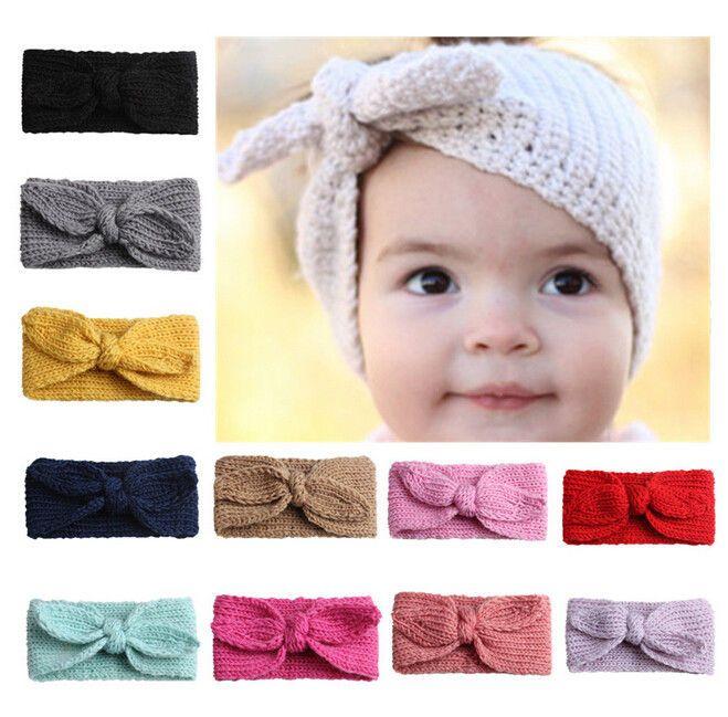 Kids Girl Baby Toddler Crochet Bow Headband Hair Band Accessories Winter New