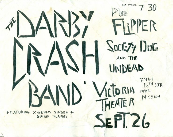 Darby crash band flipper san francisco ca society dog