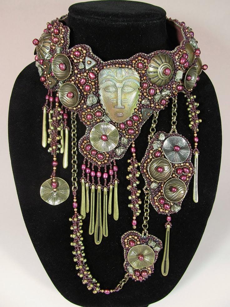 Antigua Bead Embroidered Collar. $6,995.00, via Etsy.