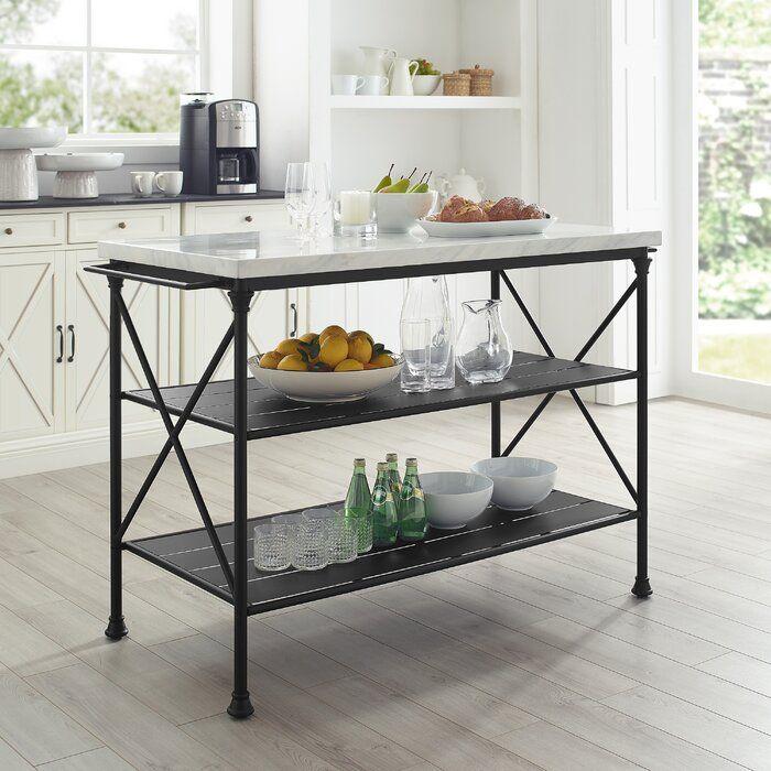Gracie Oaks Dorcia Kitchen Island Wayfair Kitchen Island Decor Kitchen Furniture Kitchen Island Cart