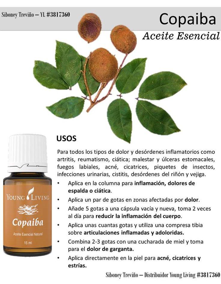 Aceite esencial Copaiba. Young Living.