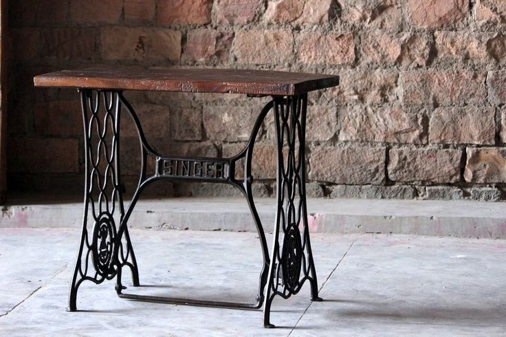 Maya 'Vintage' Cast Iron Sewing Machine Table