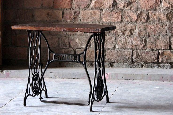 Maya 'Vintage' Cast Iron Sewing Machine Table