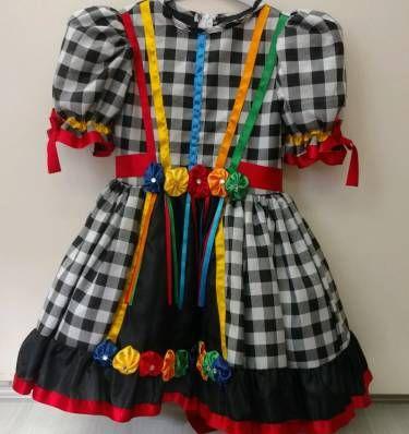 vestido festa junina - menina sem marca