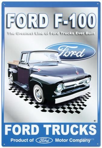 Ford Motor Company F-100 Pickups Trucks Tin Sign at AllPosters.com